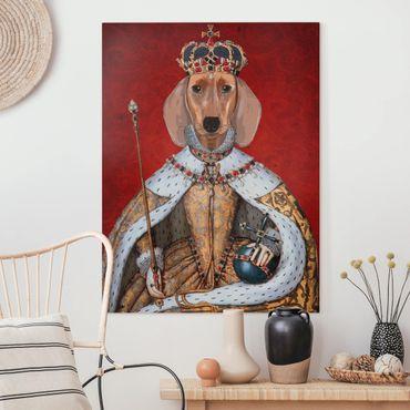 Leinwandbild - Tierportrait - Dackelkönigin - Hochformat 4:3