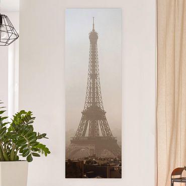 Leinwandbild - Tour Eiffel - Panorama Hoch