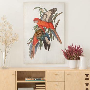 Leinwandbild - Tropische Papageien I - Hochformat 3:2