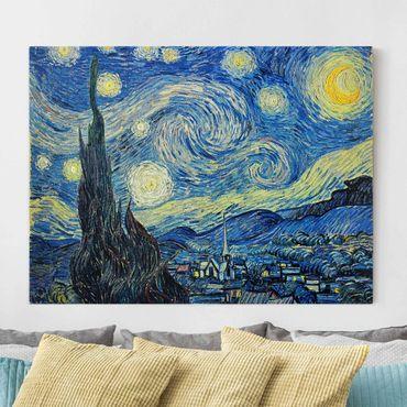 Leinwandbild - Vincent van Gogh - Sternennacht - Quer 4:3