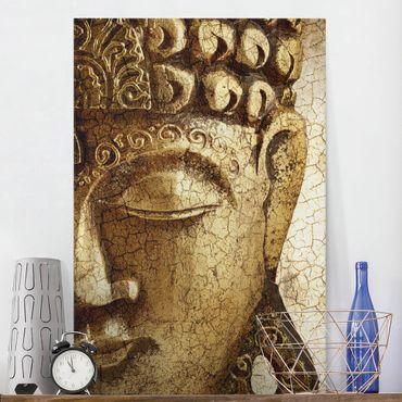 Leinwandbild - Vintage Buddha - Hoch 2:3