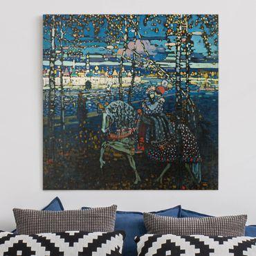 Leinwandbild - Wassily Kandinsky - Reitendes Paar - Quadrat 1:1