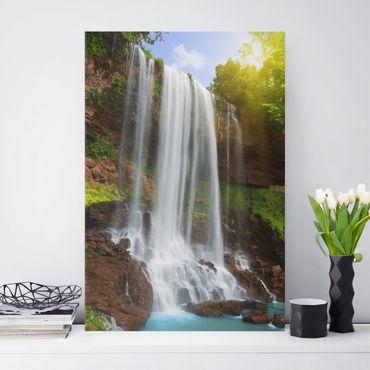 Leinwandbild - Waterfalls - Hoch 2:3
