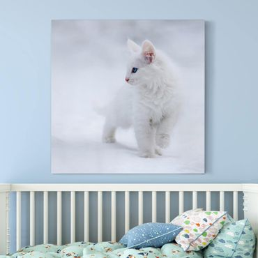 Leinwandbild - Weiß wie Schnee - Quadrat 1:1