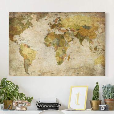 Leinwandbild - Weltkarte - Quer 3:2