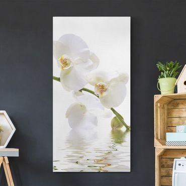 Leinwandbild - White Orchid Waters - Hoch 1:2