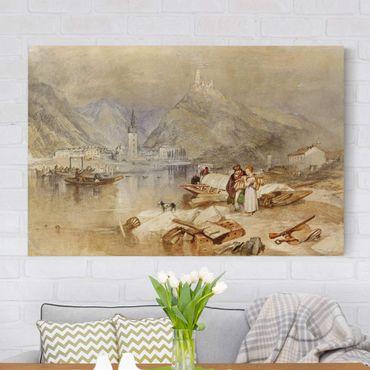 Leinwandbild - William Turner - Bernkastel an der Mosel mit der Ruine der Burg Landshut - Quer 3:2