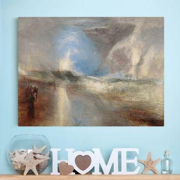 Leinwandbild - William Turner - Raketen und Blaue Lichter (zur Hand) warnen Dampfschiffe vor Untiefen - Quer 4:3