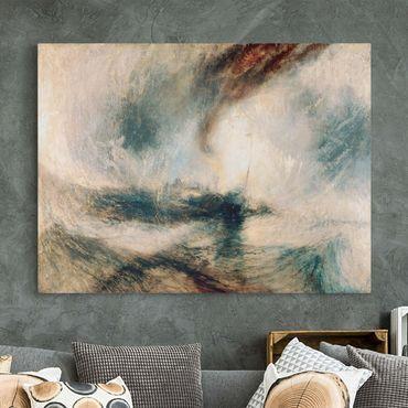 Leinwandbild - William Turner - Schneesturm über dem Meer - Quer 4:3