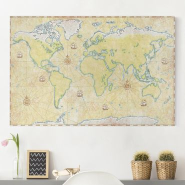 Leinwandbild - World Map - Quer 3:2