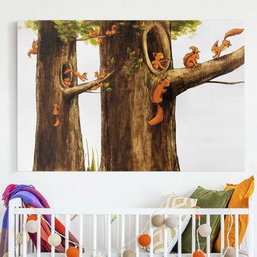 Leinwandbild - Zuhause der Einhörnchen - Quer 3:2