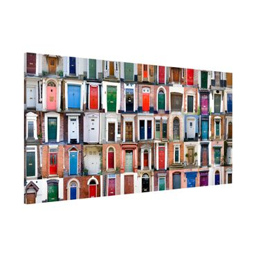 Magnettafel - 100 Türen - Memoboard Panorama Quer