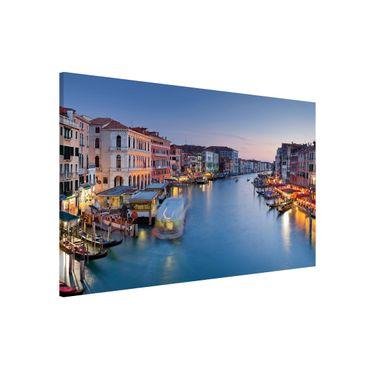Magnettafel - Abendstimmung auf Canal Grande in Venedig - Memoboard Querformat