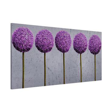 Magnettafel - Allium Kugel-Blüten - Memoboard Panorama Quer