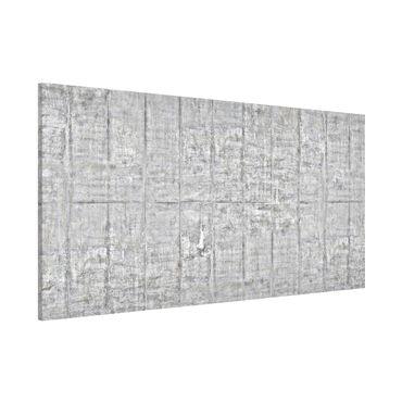 Magnettafel - Alte Ziegel mit Betonoptik - Memoboard Panorama Quer