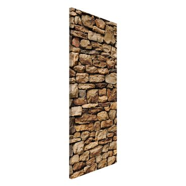 Magnettafel - Amerikanische Steinwand - Memoboard Panorama Hoch