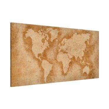 Magnettafel - Antike Weltkarte - Memoboard Panorama Querformat