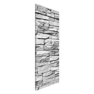 Magnettafel - Ashlar Masonry - Memoboard Panorama Hoch