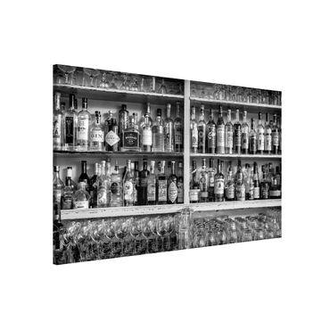 Magnettafel - Bar Schwarz Weiß - Memoboard Querformat