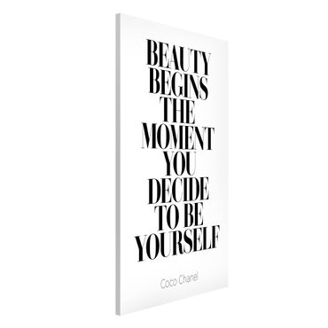 Magnettafel - Be yourself Coco Chanel - Memoboard Hochformat