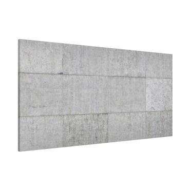 Magnettafel - Beton Ziegeloptik grau - Memoboard Panorama Quer