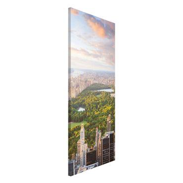 Magnettafel - Blick über den Central Park - Memoboard Panorama Hoch