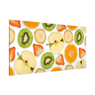 Magnettafel - Bunter Obst Mix - Memoboard Panorama Querformat