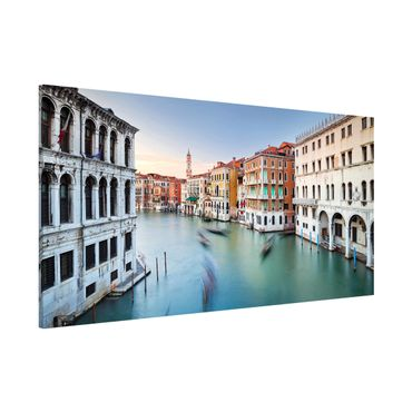 Magnettafel - Canale Grande Blick von der Rialtobrücke Venedig - Memoboard Panorama Querformat