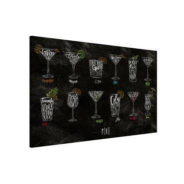 Magnettafel - Cocktail Menu - Memoboard Querformat