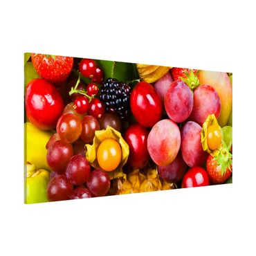 Magnettafel - Colourful Exotic Fruits - Memoboard Panorama Quer