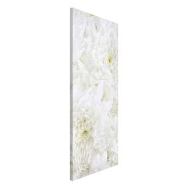 Magnettafel - Dahlien Blumenmeer weiß - Memoboard Panorama Hoch