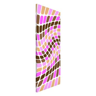Magnettafel - Dancing Squares - Memoboard Panorama Hoch