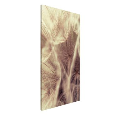 Magnettafel - Detailreiche Pusteblumen Makroaufnahme mit Blur Effekt - Memoboard Hoch
