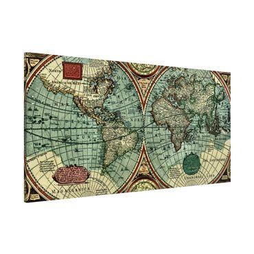Magnettafel - Weltkarte - Die alte Welt - Memoboard Panorama Quer