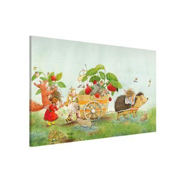 Magnettafel - Erdbeerinchen Erdbeerfee - Mit Igel - Memoboard Querformat
