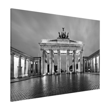 Magnettafel - Erleuchtetes Brandenburger Tor II - Memoboard Hoch