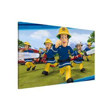 Magnettafel - Feuerwehrmann Sam - Feueralarm - Memoboard Querformat