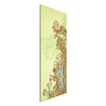 Magnettafel - Florale Illustration - Memoboard Panorama Hoch