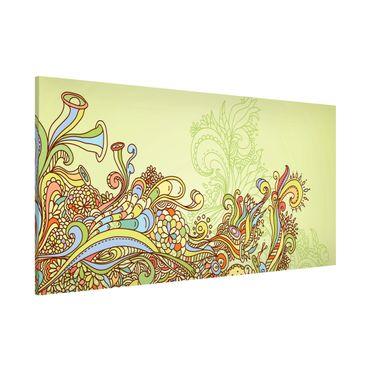 Magnettafel - Florale Illustration - Memoboard Panorama Quer