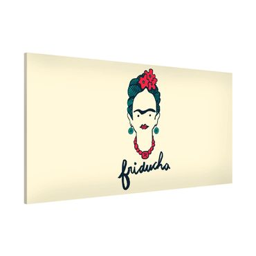 Magnettafel - Frida Kahlo - Friducha - Memoboard Panorama Querformat