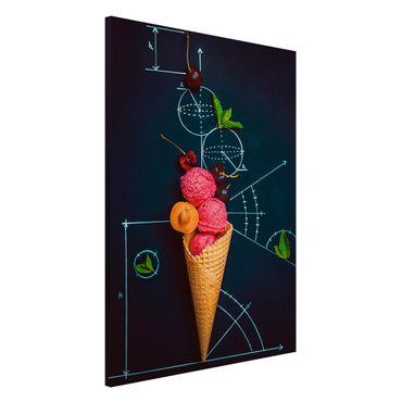 Magnettafel - Geometrie im Sommer - Memoboard Hoch