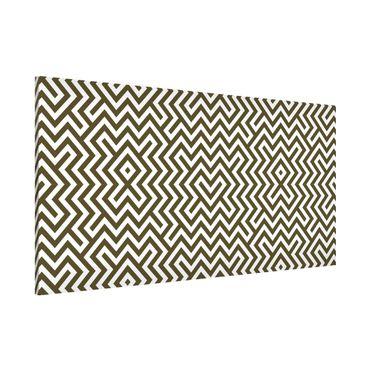 Magnettafel - Geometrisches Design Braun - Memoboard Panorama Quer