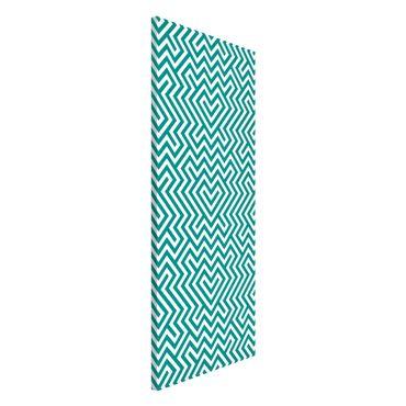 Magnettafel - Geometrisches Design Mint - Memoboard Panorama Hoch