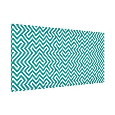 Magnettafel - Geometrisches Design Mint - Memoboard Panorama Quer