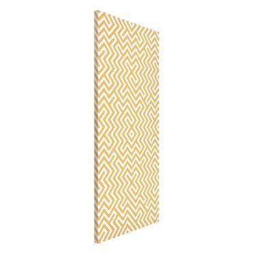 Magnettafel - Geometrisches Musterdesign Gelb - Memoboard Panorama Hoch