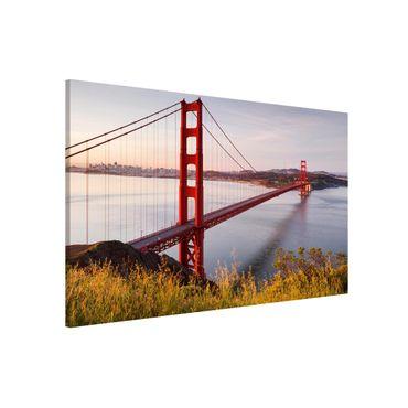 Magnettafel - Golden Gate Bridge in San Francisco - Memoboard Querformat