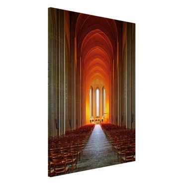 Magnettafel - Grundtvigskirche in Kopenhagen - Memoboard Hochformat