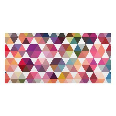 Magnettafel - Hexagon Facetten - Memoboard Panorama Quer