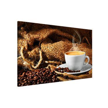 Magnettafel - Kaffee am Morgen - Memoboard Querformat