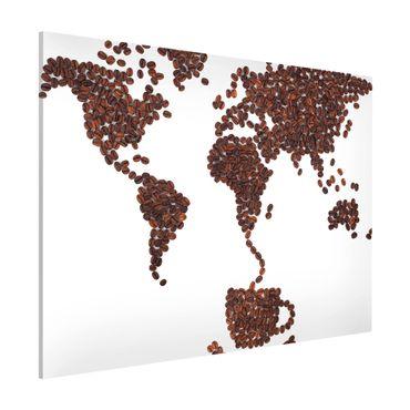 Magnettafel - Kaffee um die Welt - Memoboard Querformat